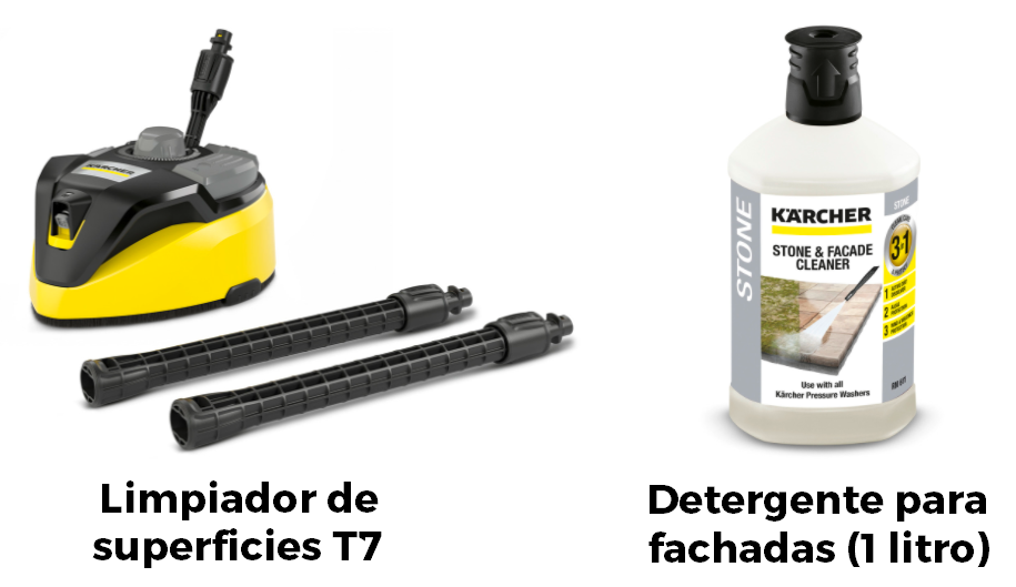 Home Kit Karcher 7 superficies T7 y detergente para fachadas